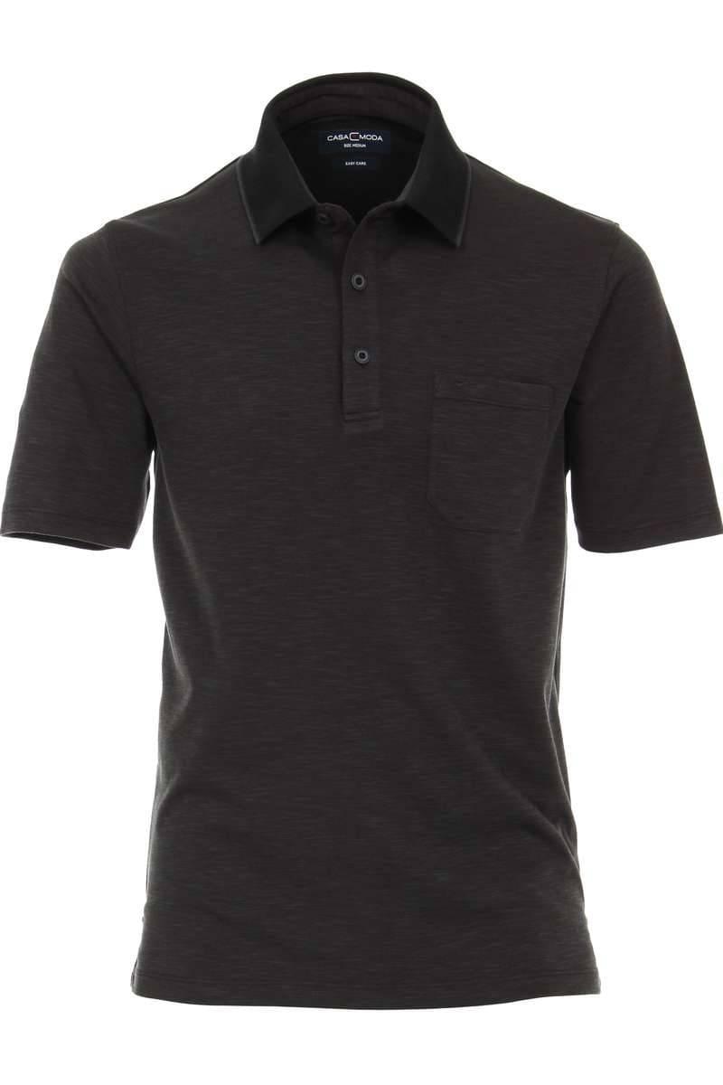 Casa Moda Poloshirt schwarz, Meliert