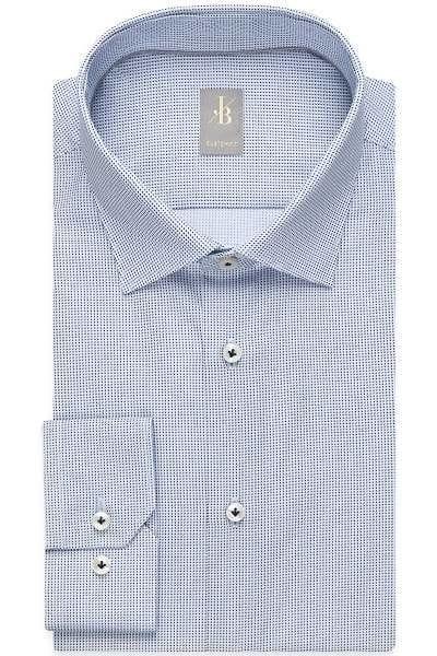 Jacques Britt Hemd - Custom Fit - blau, Strukturiert
