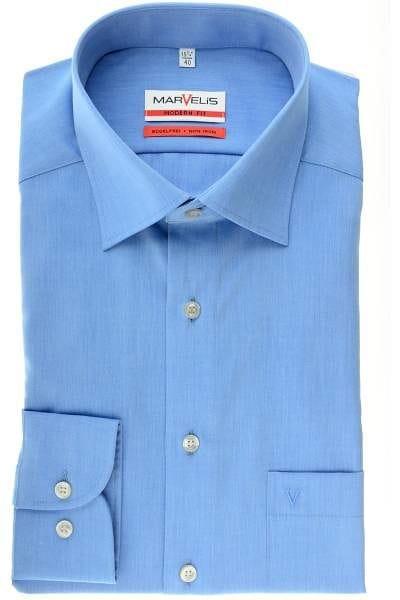 Marvelis Hemd - Modern Fit - ausstatterblau, Einfarbig