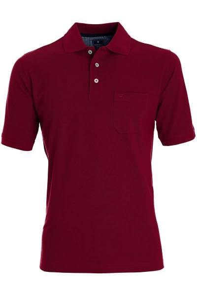 Redmond Casual Poloshirt weinrot, Einfarbig