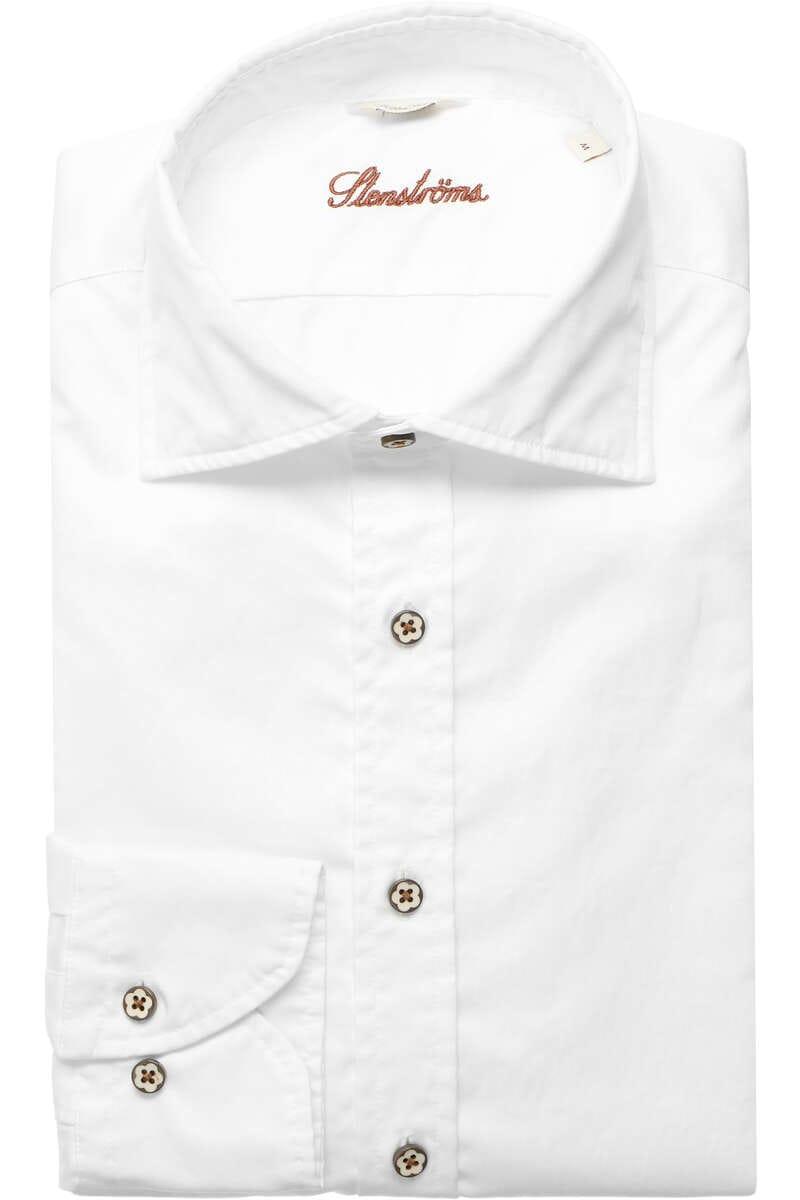 Stenströms Fitted Body Hemd weiss, Einfarbig M