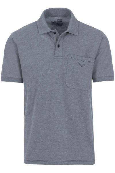 TRIGEMA Comfort Fit Poloshirt steingrau, melange