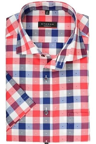 Eterna Hemd - Modern Fit - rot/blau/weiß, Kariert
