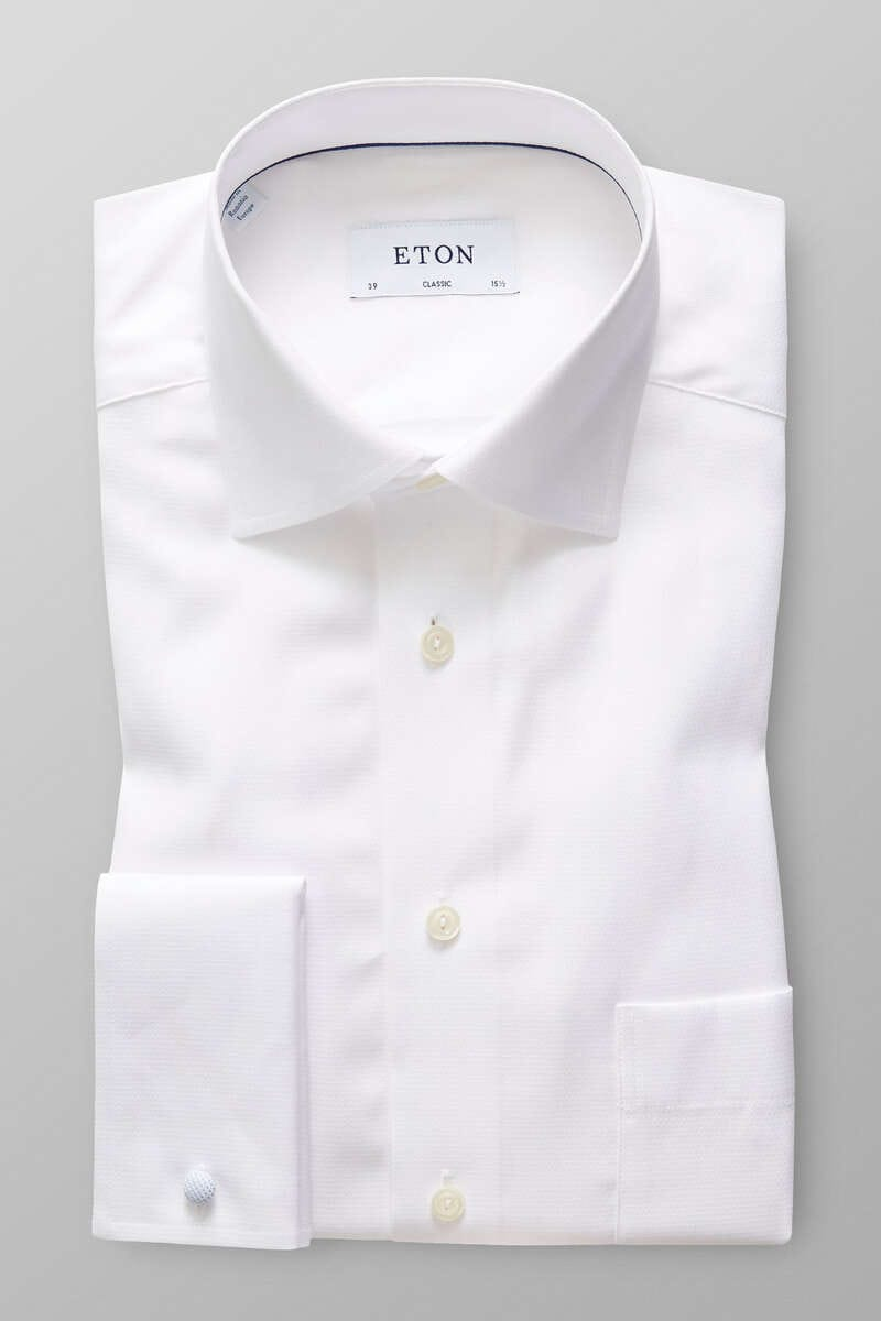ETON Classic Fit Hemd weiss, Faux-uni 45 - XXL