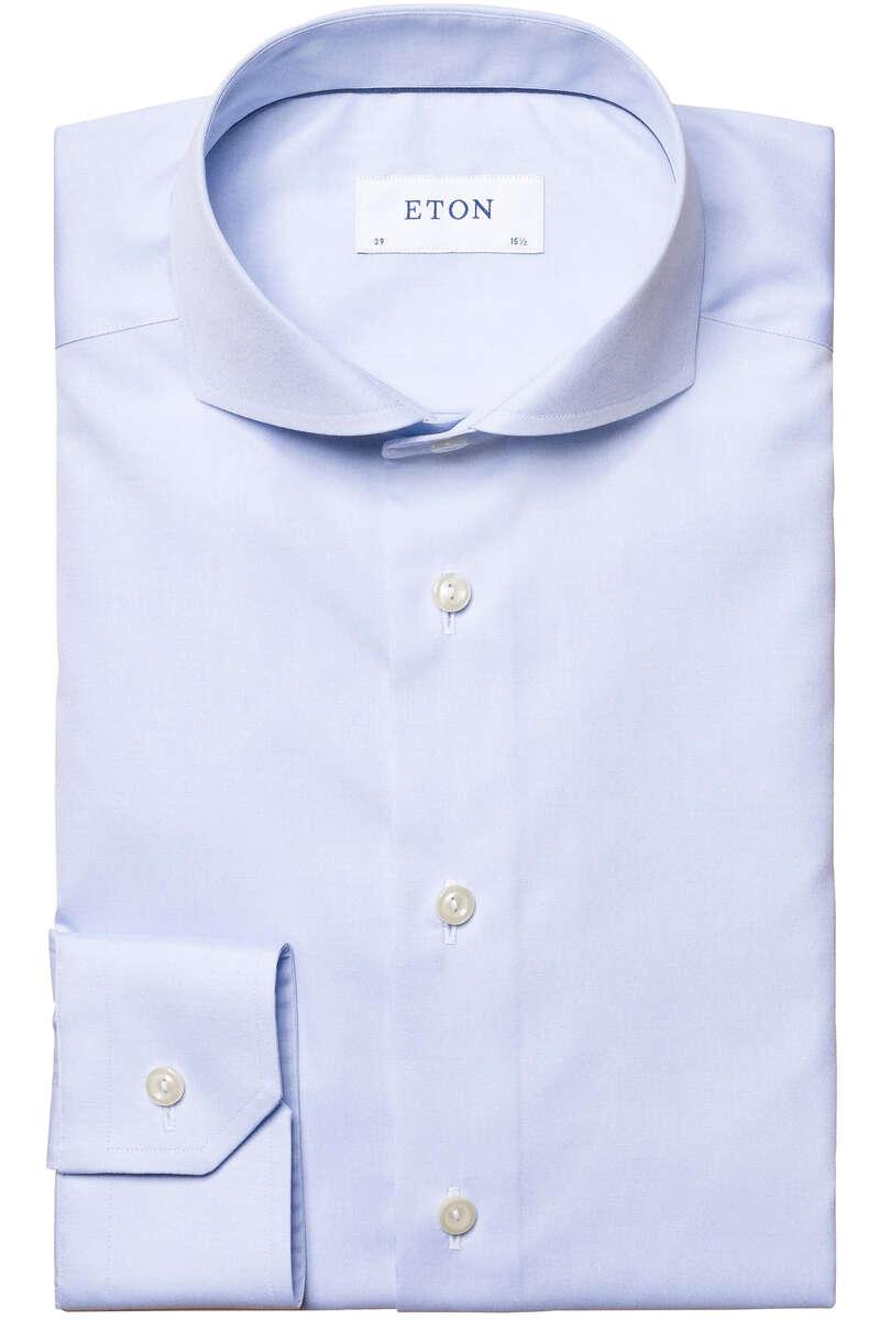 ETON Super Slim Hemd hellblau, Einfarbig 40 - M