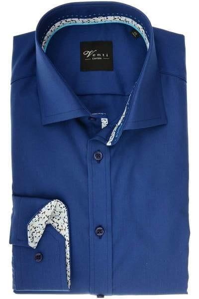 Venti Modern Fit Hemd marine, Einfarbig