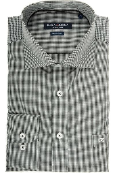 Casa Moda Comfort Fit Hemd schwarz/weiss, Vichykaro