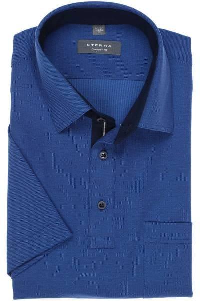 ETERNA Comfort Fit Poloshirt blau, Einfarbig