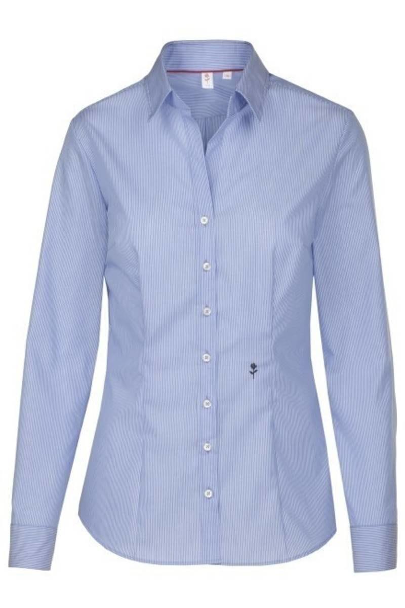 34,36,38,4 SEIDENSTICKER Modern Bluse Langarm mit Hemdkragen Popeline weiß Gr