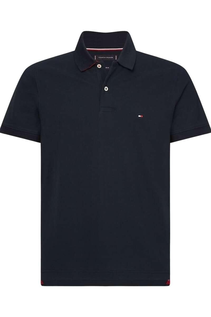 Tommy Hilfiger Regular Fit Poloshirt nachtblau, Einfarbig M