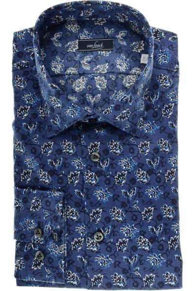 van Laack Slim Fit Hemd blau/weiss, Gemustert