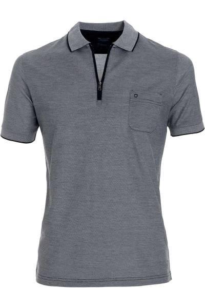 OLYMP Casual Modern Fit Poloshirt schwarz, melange