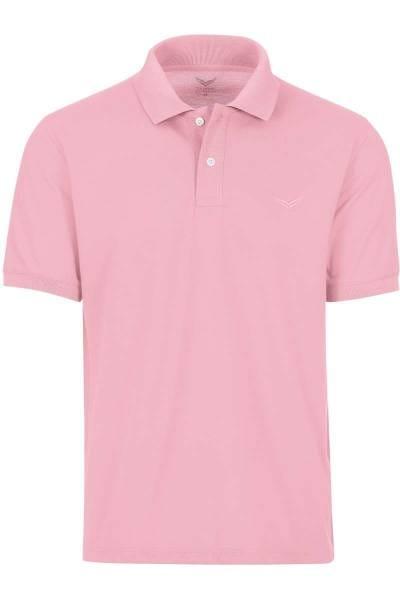 TRIGEMA Comfort Fit Poloshirt taupe, Einfarbig
