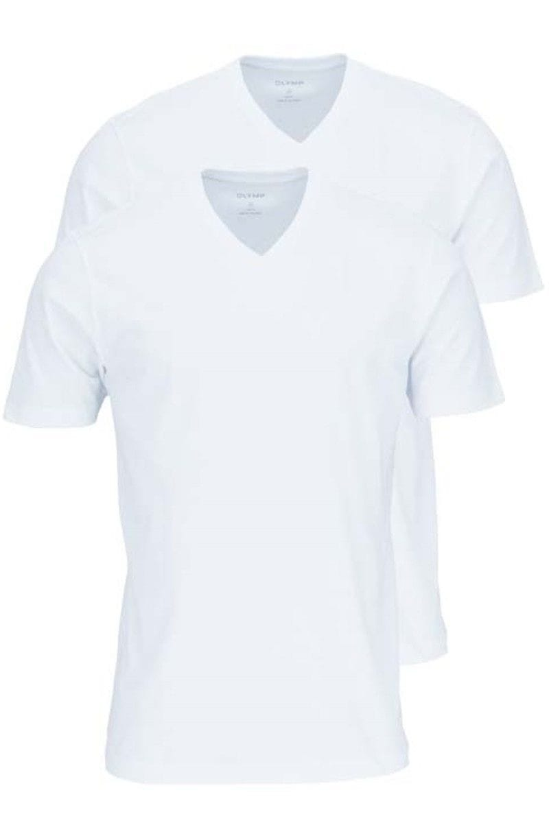 Olymp T-Shirt - V-Neck - 2 pack - white, One Colour S