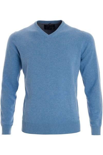 Marvelis Strickpullover V-Ausschnitt rauchblau, einfarbig
