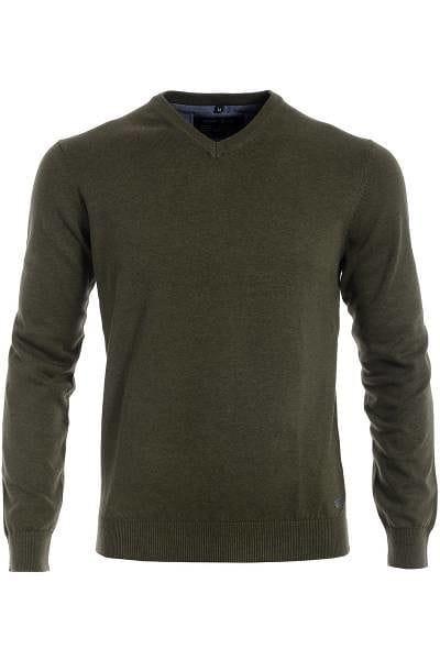Marvelis Strick - V-Ausschnitt Pullover - grün