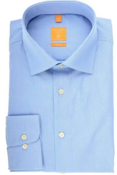 Redmond Modern Fit Hemd blau/weiss, Feinstreifen