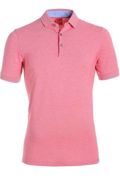 Olymp Modern Fit Poloshirt sky/weiss, Zweifarbig