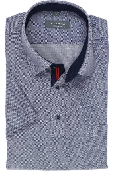 ETERNA Comfort Fit Hemd jeansblau, Einfarbig
