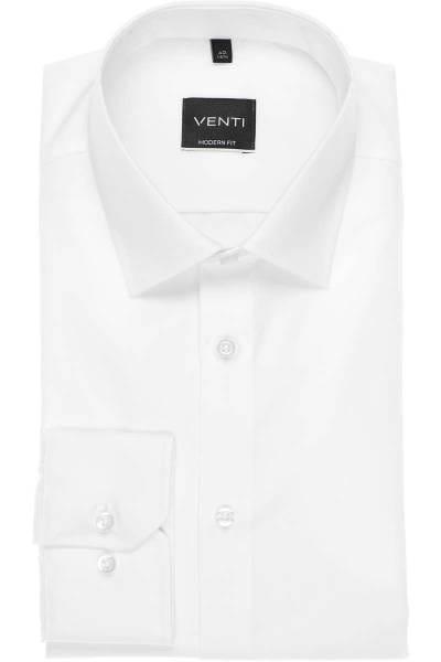 Venti Hemd - Modern Fit - weiss, Einfarbig