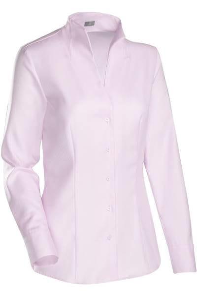 Jacques Britt Bluse Slim Fit - rosa, Einfarbig