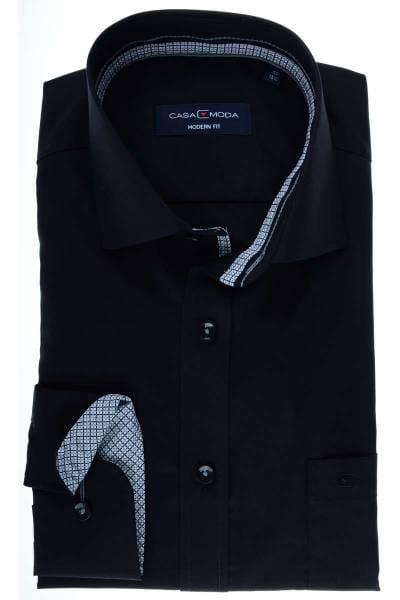 Casa Moda Modern Fit Hemd schwarz, Einfarbig