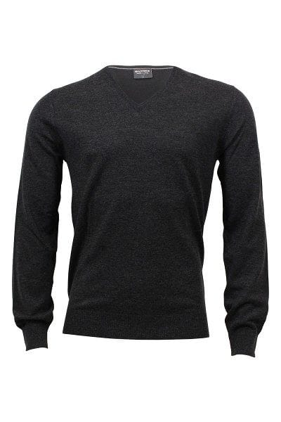 Olymp Strickpullover Level 5 Five Body Fit - graphit