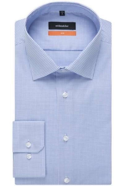 Seidensticker Slim Fit Hemd hellblau, Streifen