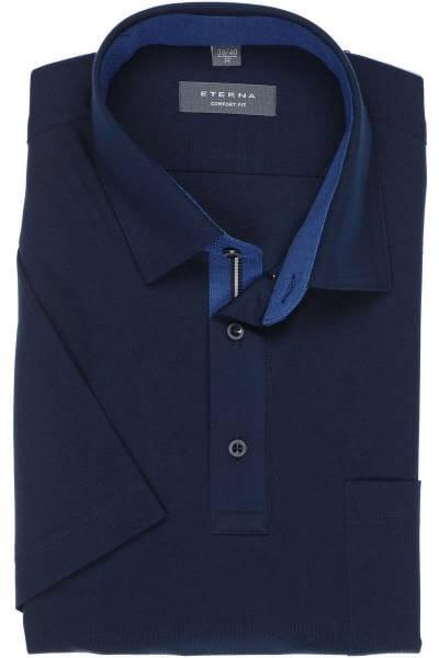 ETERNA Comfort Fit Poloshirt marine, Einfarbig