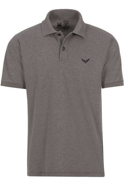 TRIGEMA Comfort Fit Poloshirt taupe, melange