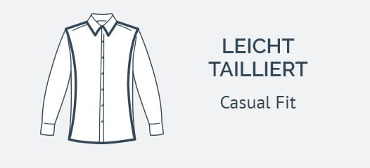 Casa Moda Hemden mit extra langem Arm Casual fit