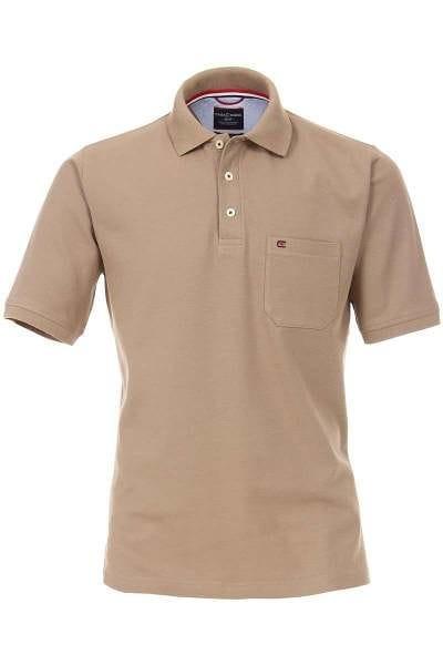 hochwertiges casa moda poloshirt in der farbe braun einfarbig das polo hemd ist pflegeleicht. Black Bedroom Furniture Sets. Home Design Ideas