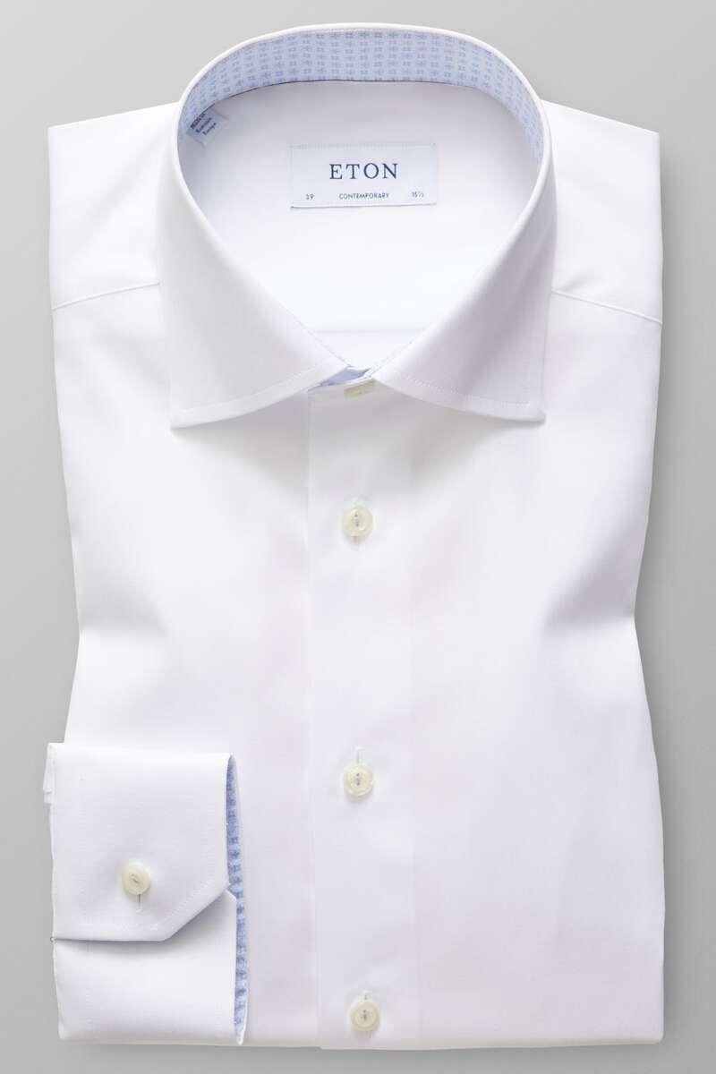 ETON Contemporary Fit Hemd weiss, Einfarbig 40 - M