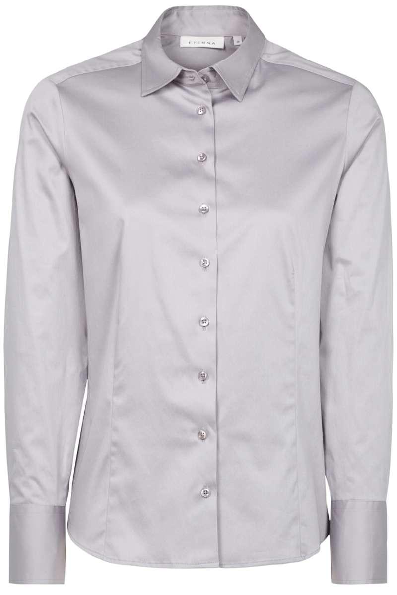 hochwertige eterna modern classic bluse in der farbe grau einfarbig die h bsche bluse ist. Black Bedroom Furniture Sets. Home Design Ideas