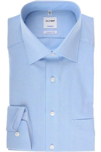 Olymp Tendenz Regular Fit Hemd bleu/weiss, Vichykaro