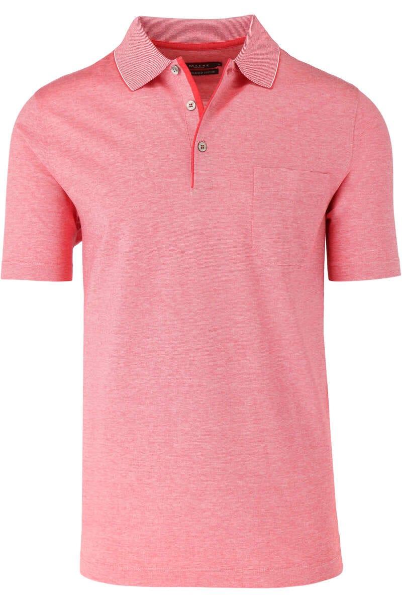 MAERZ Modern fit Poloshirt rot, Feinstreifen 52