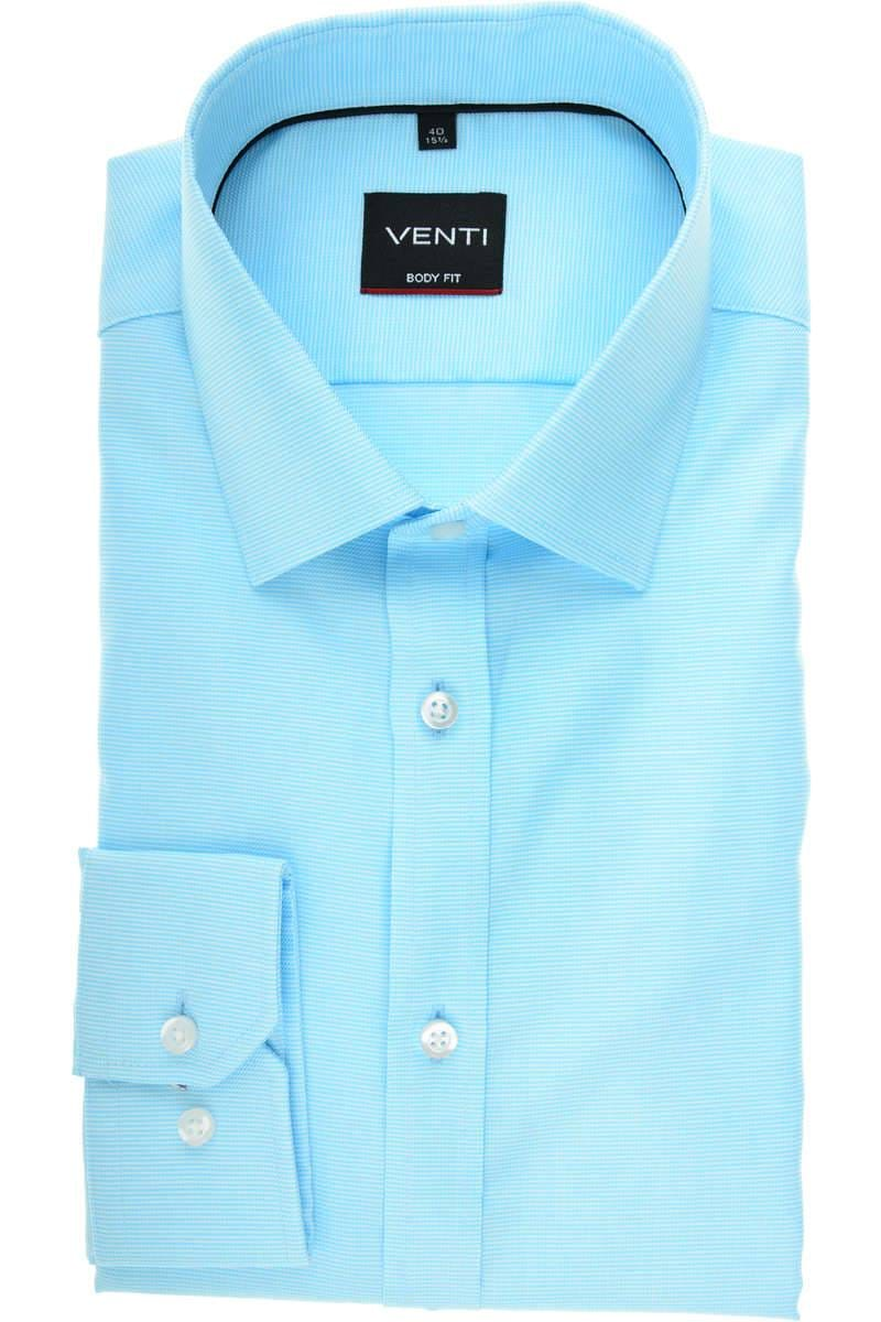 low price sale online retailer lower price with Venti Body Fit Hemd türkis, Strukturiert