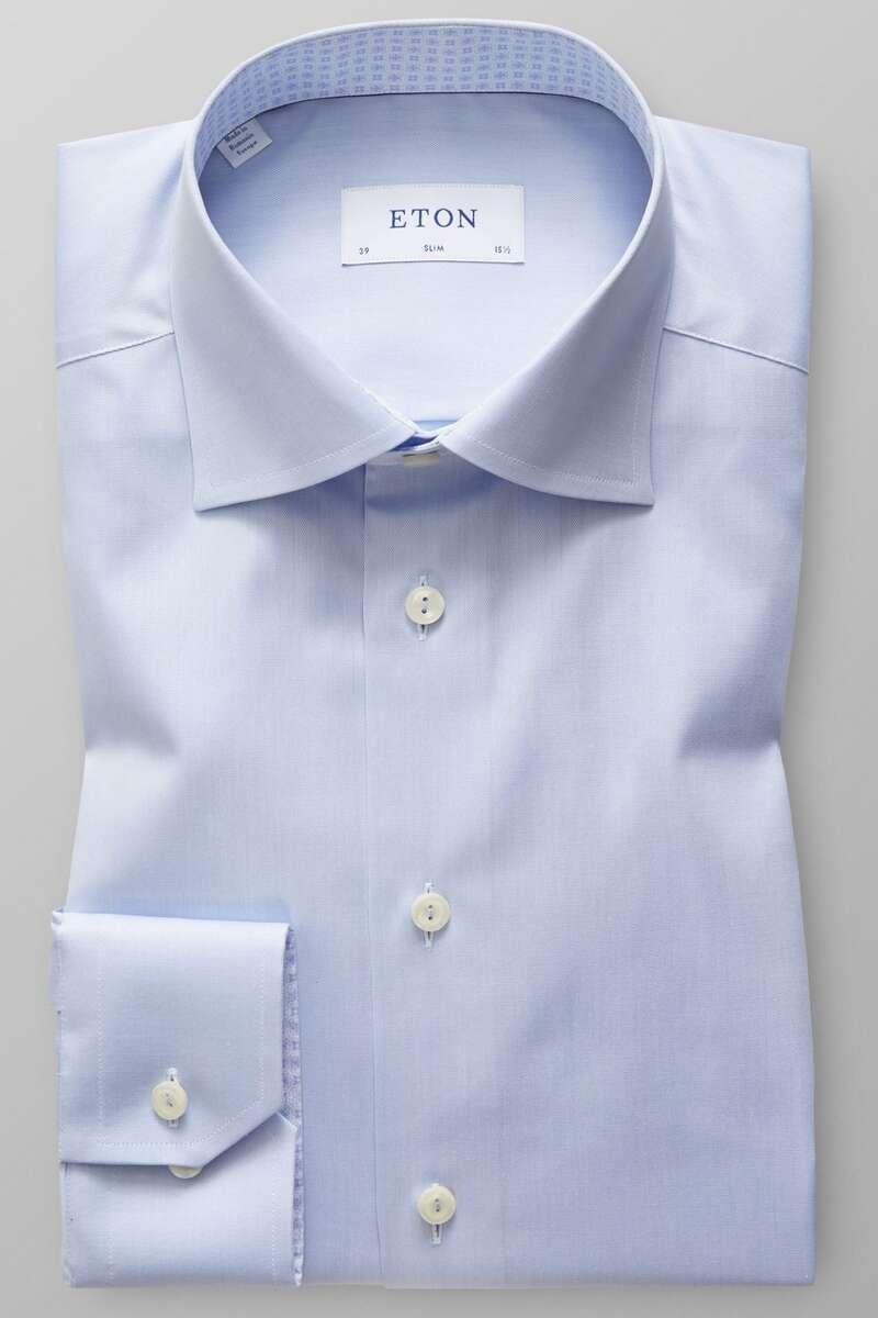 ETON Slim Fit Hemd blau, Einfarbig 44 - XL