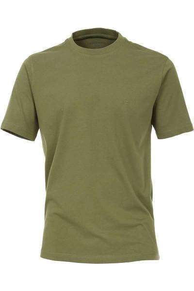 Casa Moda T-Shirt oliv, Einfarbig