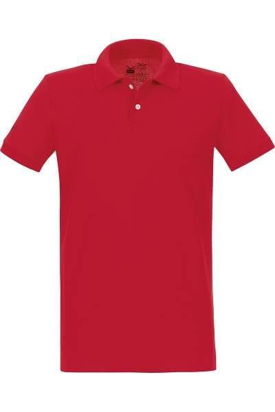 TRIGEMA Poloshirt - Polo, Slim Fit - rot, Einfarbig