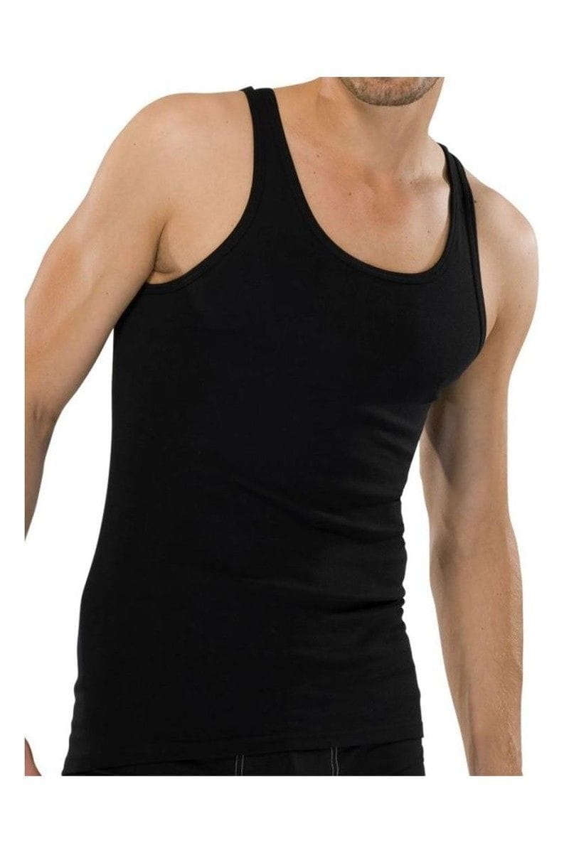 Schiesser Unterwäsche - T-Shirt Shirt - schwarz