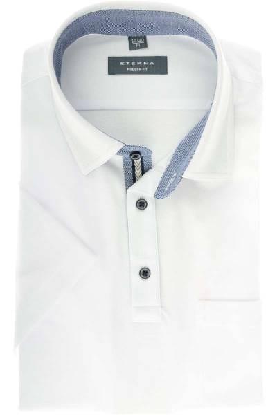 ETERNA Modern Fit Poloshirt weiss, Einfarbig