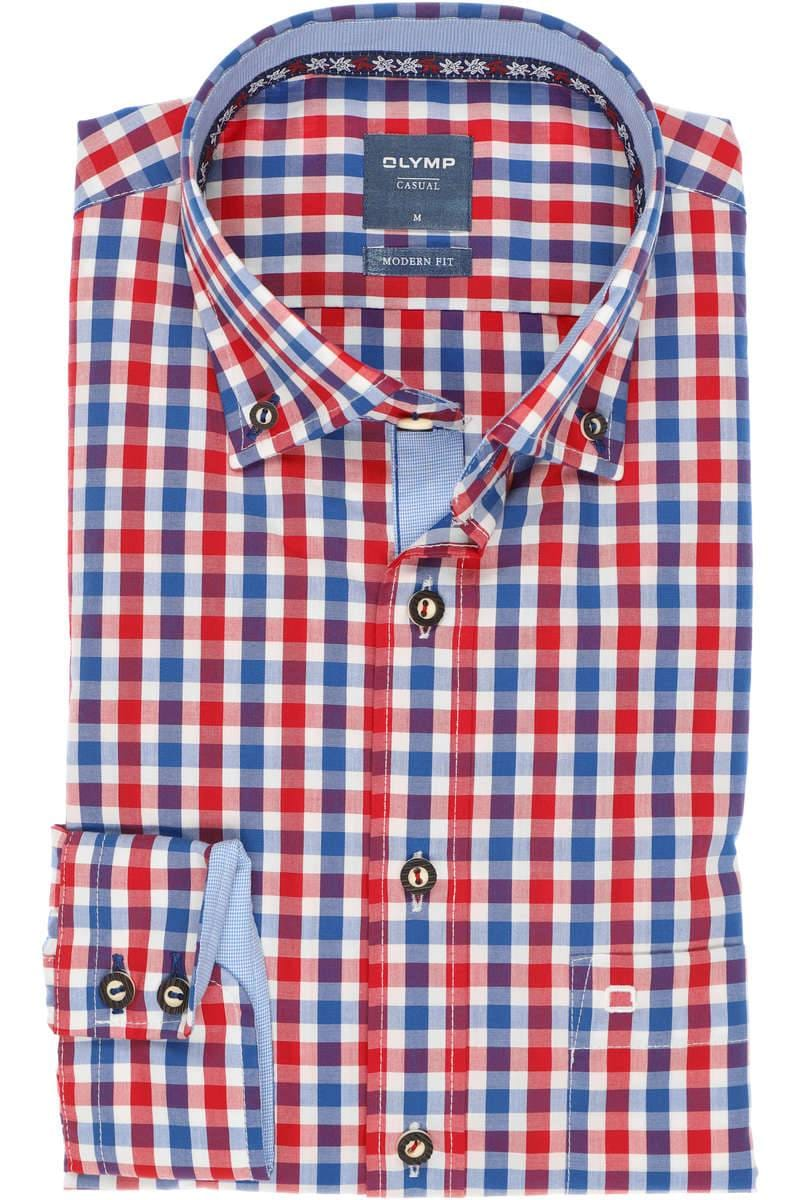 TOP Trachtenhemd rot-weiß Karo  Super Qualität