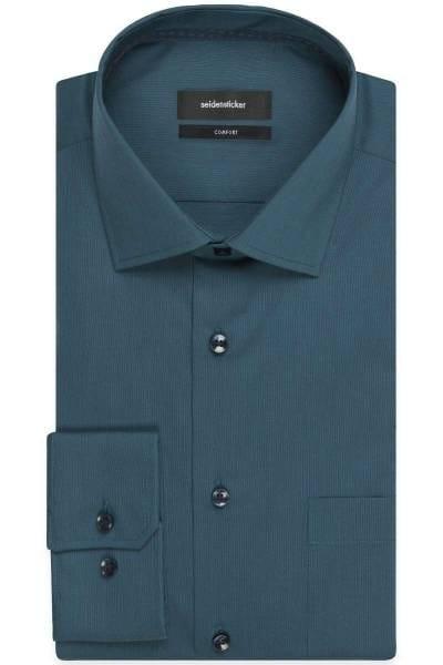 Seidensticker Comfort Fit Hemd dunkelgrün, Einfarbig