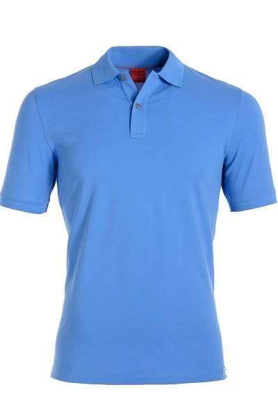 Olymp Level Five Body Fit Poloshirt sky, Einfarbig