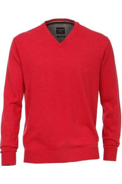 Casa Moda Strickpullover rot, Einfarbig