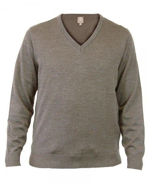 MAERZ Strickpullover V-Ausschnitt Pullover - almond