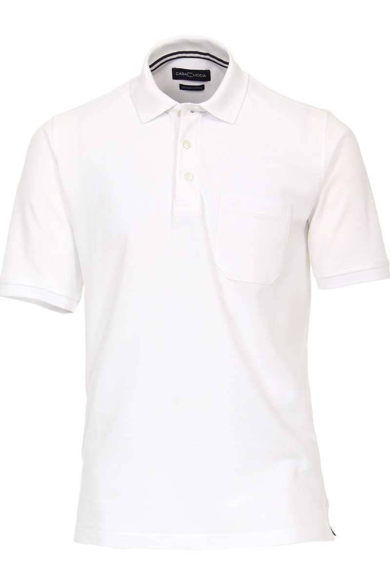 Casa Moda Poloshirt weiss, Einfarbig