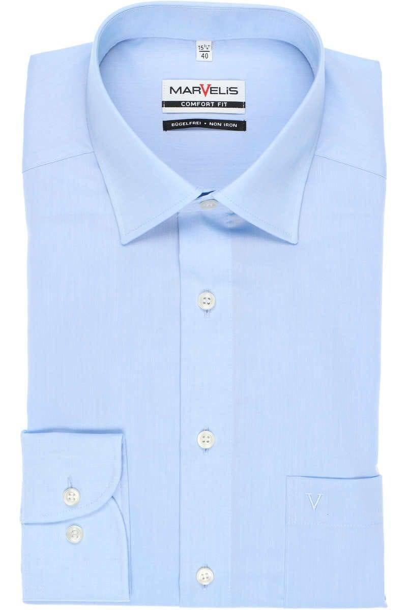 Marvelis Hemd - Comfort Fit - bleu, Einfarbig