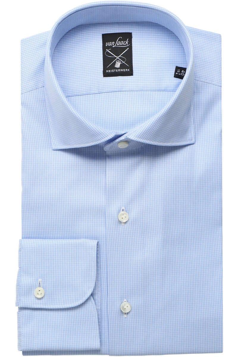 Van Laack Tailor Fit Hemd mittelblau, Gemustert 43 - XL